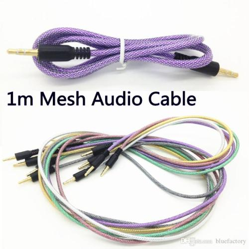small resolution of discount rubber tube audio aux cable 3 5mm fishing net mesh jack auxiliary stereo male to
