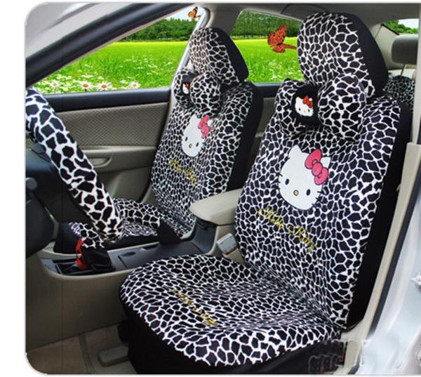 Kitty Universal Giraffe Print Car Seat Covers Mirror Cover Fitting