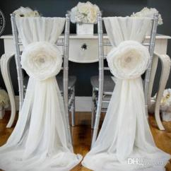 Cover Chairs Wholesale Step Stool Chair Restore 2018 2015 White Wedding Decorations Covers Sash For Weddings With Big 3d Flowers Chiffon ...