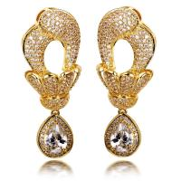 Dubai Jewellery Large Dangle Earrings with Big Tear Drop