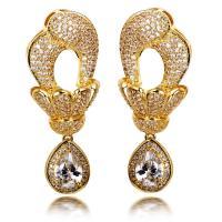 Dubai Jewellery Large Dangle Earrings with Big Tear Drop ...