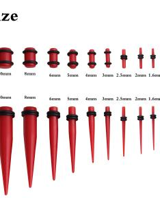 Ear taper and plug stretching kits body piercing also pictures of gauges plugs tapers sizes kidskunstfo rh