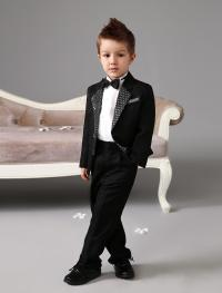Luxurious Black Ring Bearer Suits Cool Boys Tuxedo With ...