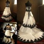 Black and White Gothic Wedding Dresses