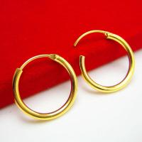 Gold Earrings Female Models Do Not Fade for Men Hoop ...