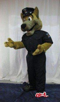 Customized Police Dog Mascot Costume Adult Size Cheap