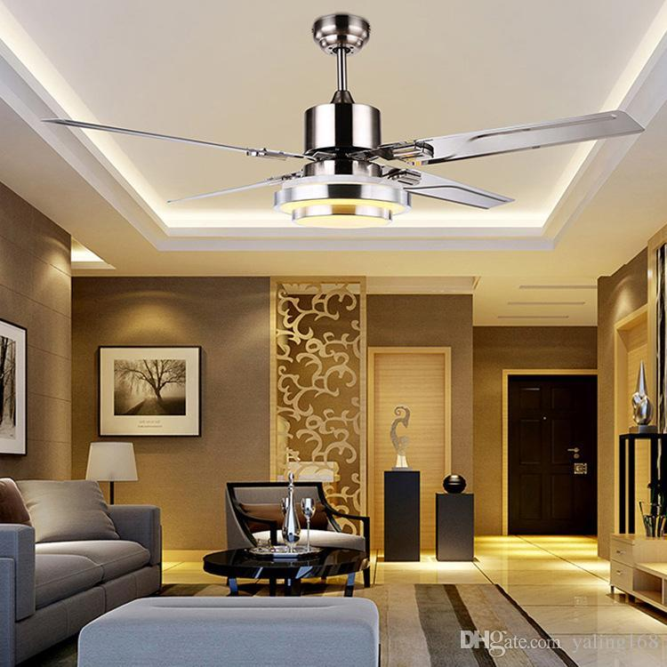 2018 With Remote Control Ceiling Fan Light Minimalist