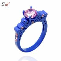 2018 Turquoise Ring Promise Ring Sets Cz Crystal Wedding ...