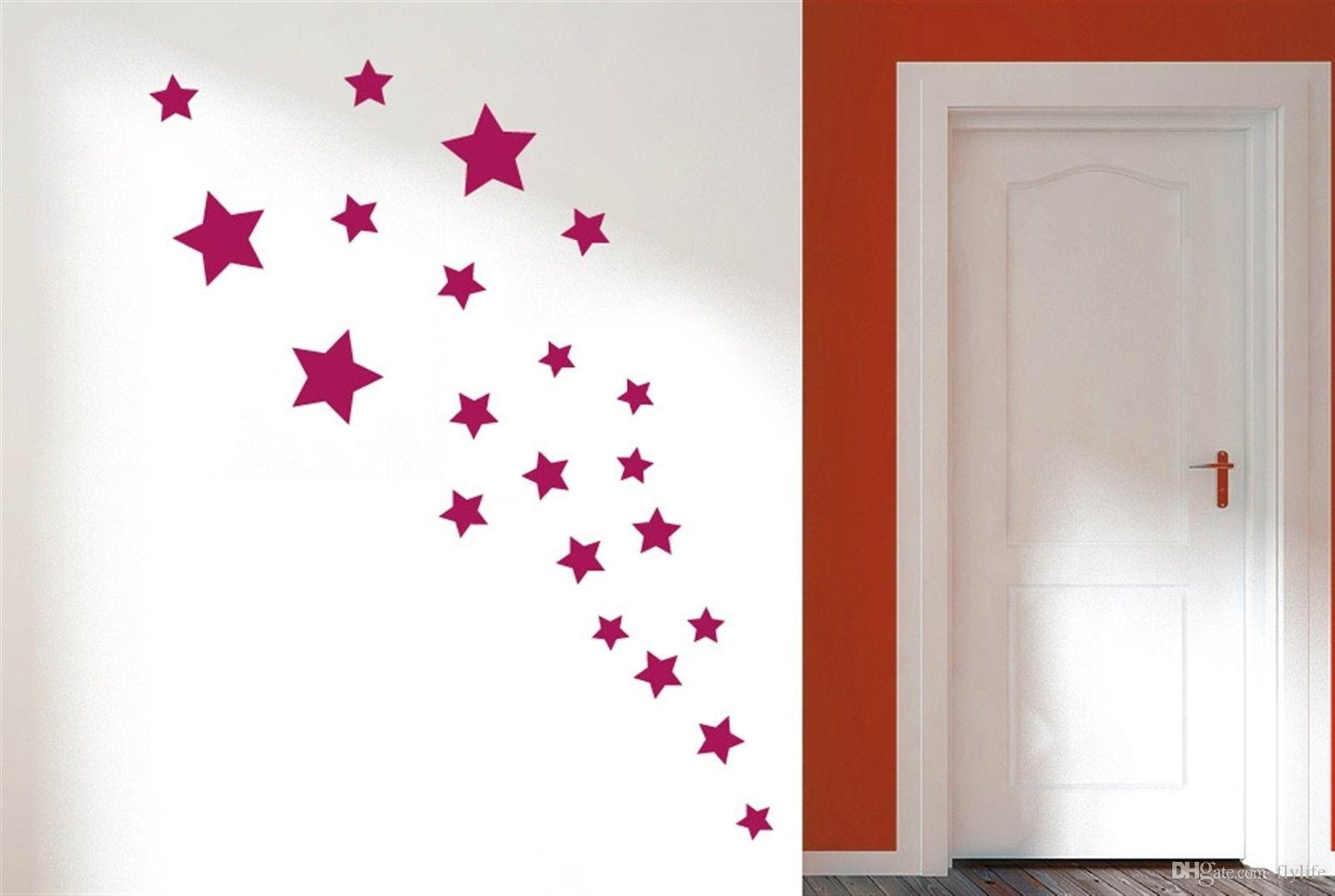 Removable Various Color Stars Decorative Wall Stickers