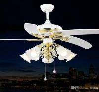 2017 Vintage Ceiling Fans Pendant Lamp In White Color Led