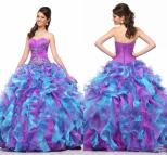 Blue and Purple Ball Gowns Dress