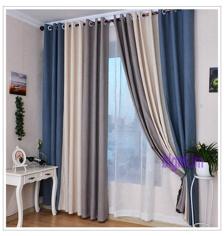 2017 Summer Style Linen Curtains For Living Room Blackout