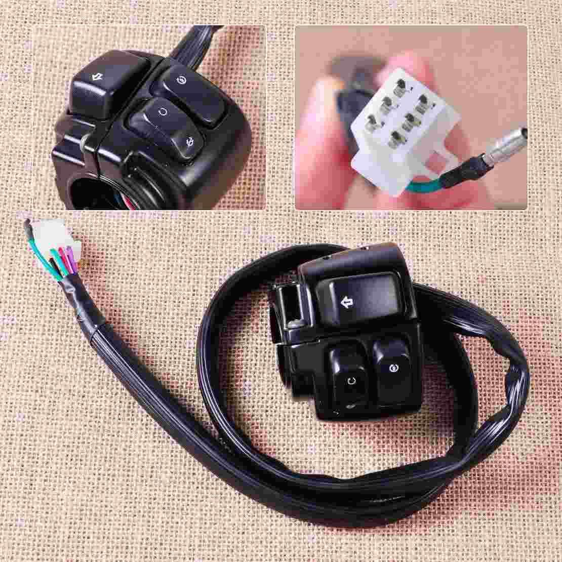 hight resolution of motorcycle 1 handlebar ignition turn signal switch wiring harness for harley softail dyna sportster 1200 883 v rod