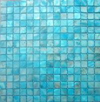 Shell Mosaic Tiles, Blue Mother of Pearl Tiles, Kitchen ...