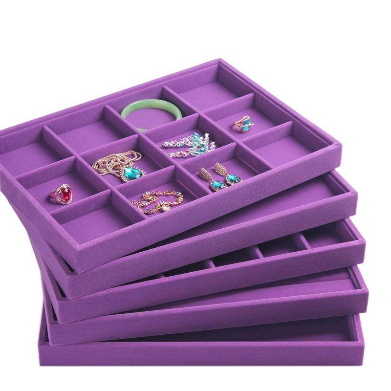 Upscale Purple Velvet Jewelry Display Tray Jewelry Box