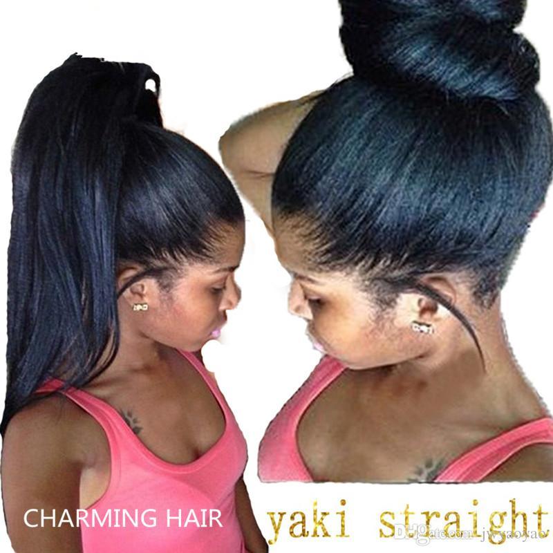 8A Virgin Malaysian Yaki Straight Wigs Light Yaki Full Lace Wigs