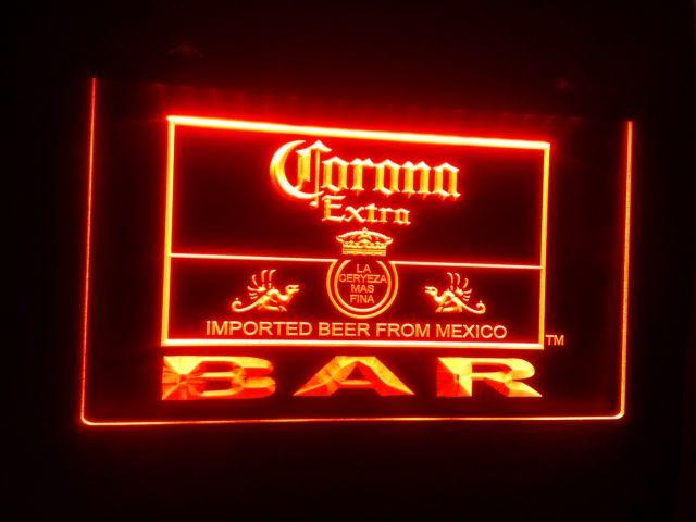 2019 B 44 Corona Extra Beer Bar Pub Club Logo LED Neon