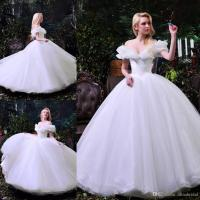 2017 Cinderella Pure White Wedding Dresses Sexy Off
