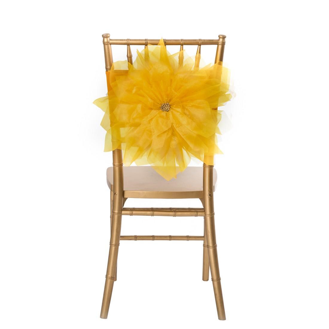 wedding chair sash accessories aqua adirondack chairs plastic 2017 2015 vintage for weddings 3d flower pearl