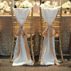 Gold Chair Covers With Black Sash Oversized Chaise Lounge Hot Sale White Taffeta Sashes Golden Champagne Ribbon Seqined Organza Most Popular Wedding Favors Long Piping Decorations