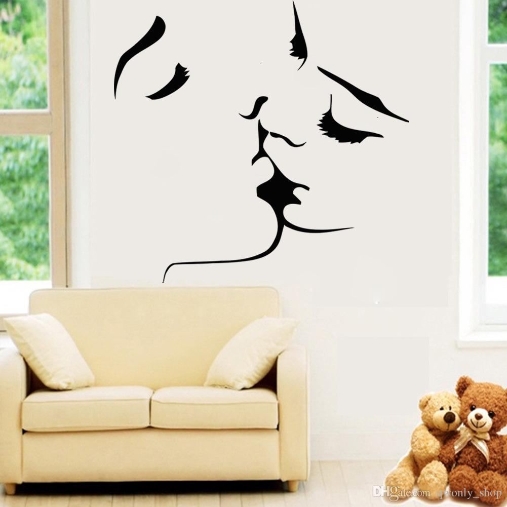 sexy love kiss vinyl wall stickers on the walls bedroom wedding