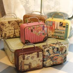 Sofa Cover Storage Bag Alex Review 2019 New Retro Style Small Suitcase Tin Box ...
