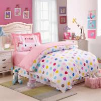 Kids Colorful Polka Dot Cute Comforter Bedding Sets Twin