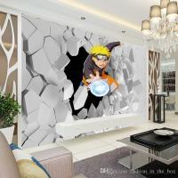 Japanese Anime Wall Mural 3D Naruto Photo Wallpaper Boys ...