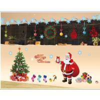 Merry Christmas Wall Sticker Diy Santa Claus Xmas Tree
