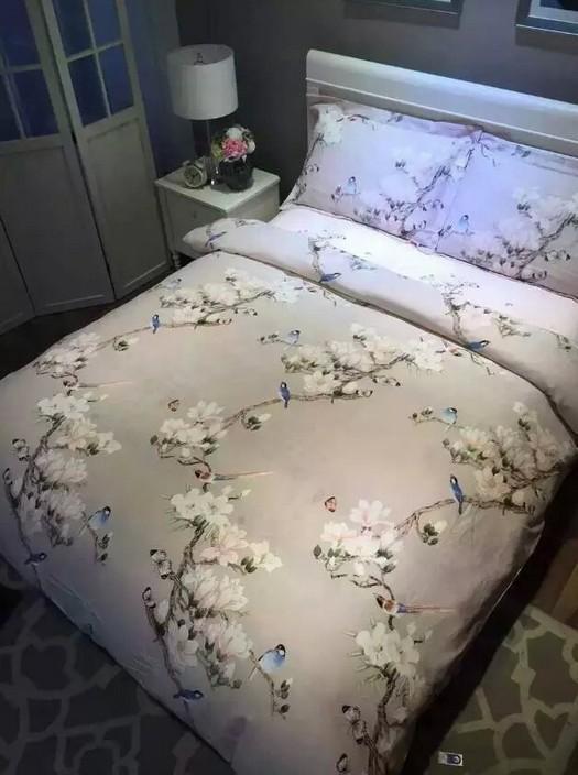bird print bedding set