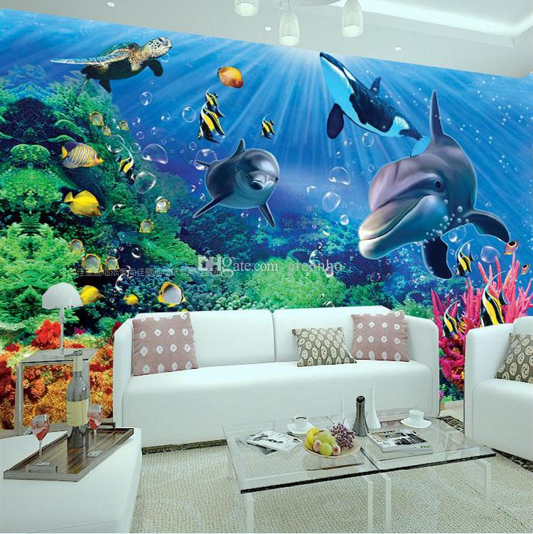 Cute Designs Printer Page Wallpapers 3d Wall Mural Underwater World Photo Wallpaper Interior