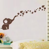 Cute Elephant Bubbles Diy Vinyl Wall Art Sticker ...