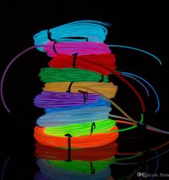 2018 flexible neon light 3m el wire rope tube with controller halloween christmas led light party dance car decor glow cable light from flymall  [ 1000 x 1000 Pixel ]