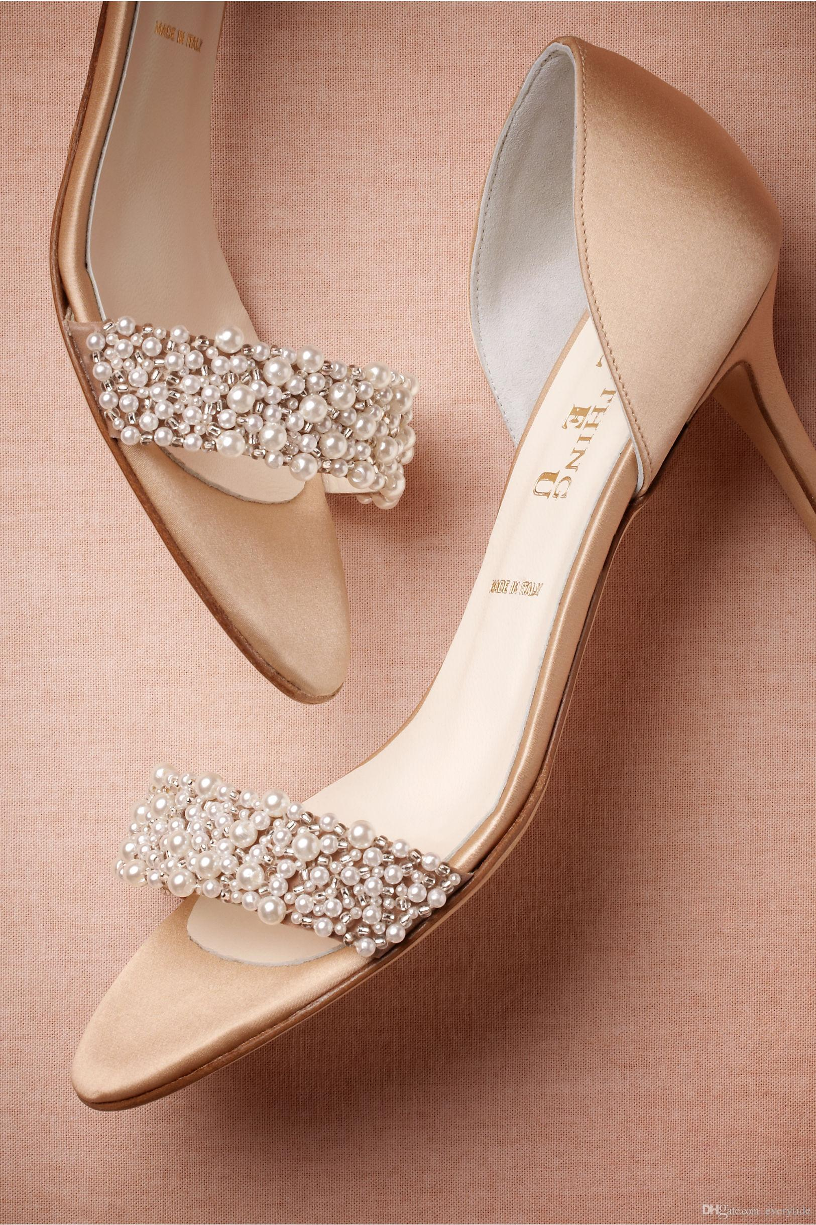 Champagne Colored Shoes Wedding
