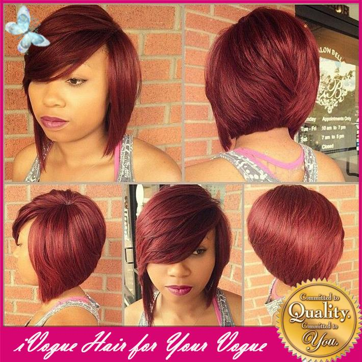 Burgundy Bob Hairstyles With Fringe Burgundy Hair Trend 2017
