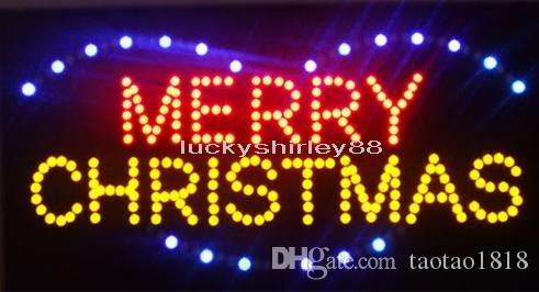 2018 LED MERRY CHRISTMAS SIGN BOARD 19x10 Led Neon Sign