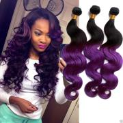 purple ombre malaysian hair extension