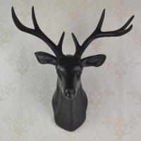 3d Black Deer Head Wall Decoration Made Of Plastic ...