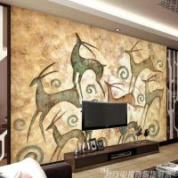 Abstract Painting Photo Wallpaper Elk Totem Wall Murals ...