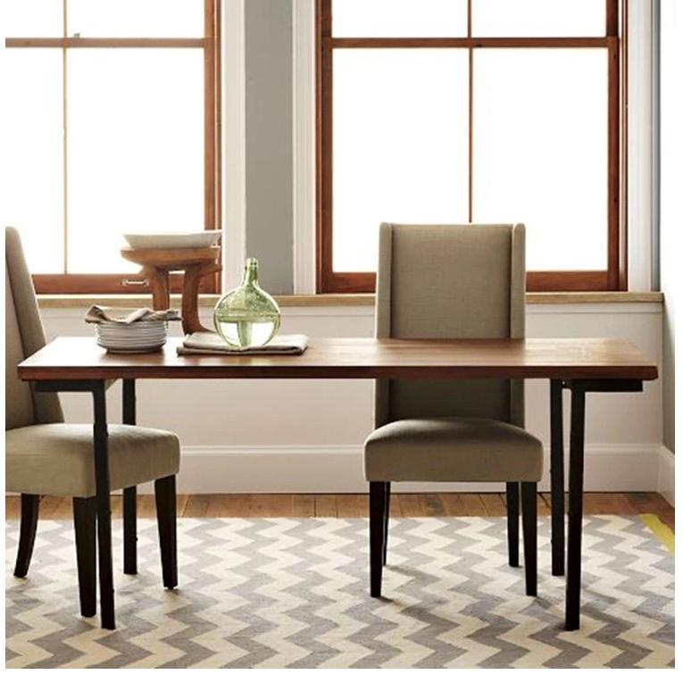 custom restaurant tables and chairs folding chair hack american wood dining table retro desk combination rustproof iron home online with 422 92 piece on