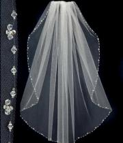 2015 design short wedding veils
