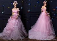 Pink Princess Ball Gown Wedding Dress