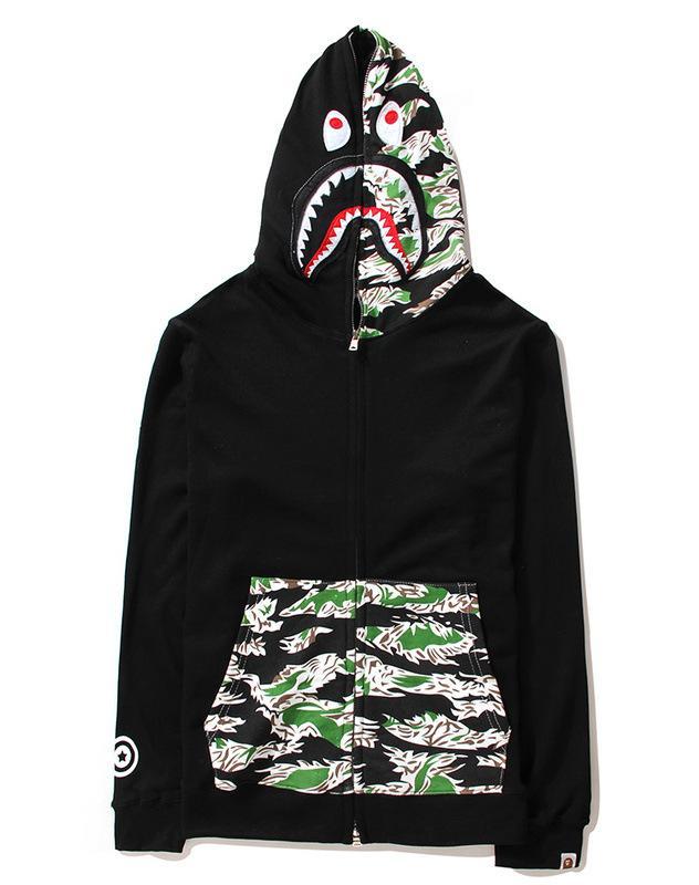 Discount 2015 Harajuku Fashion Brand Bape Shark Hoodie Men ...