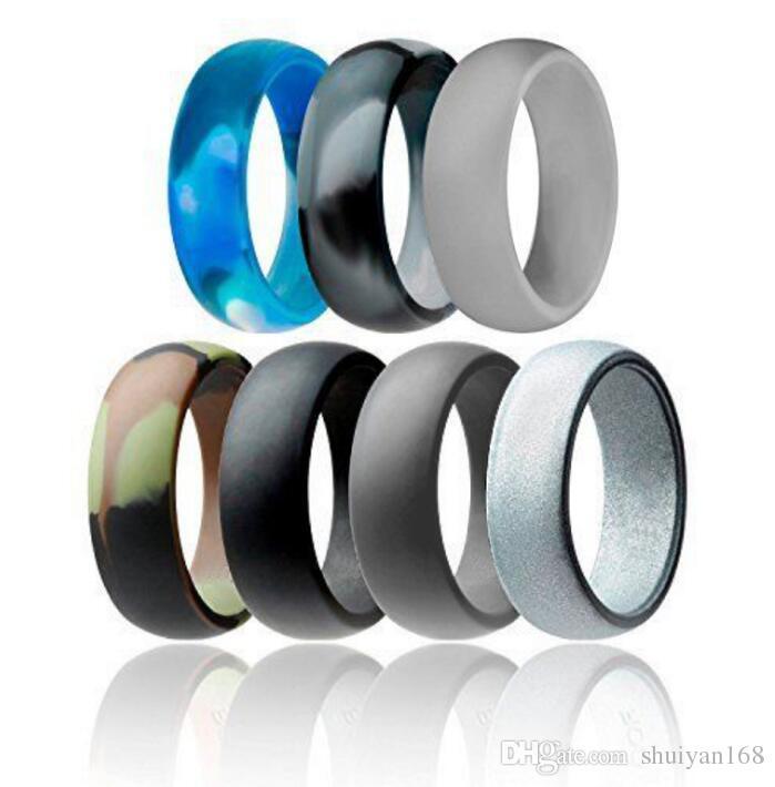 grosshandel silikon ehering flexible silikon o ring hochzeit komfortable fit lightweigh ring fur herren multicolor komfortable design fur manner von