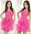 Hot Pink Prom Dresses with Flowers