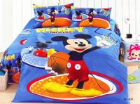 Basketball Mickey Mouse Blue Bedding Bedspreads For Single ...