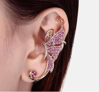 Full Of Diamond Earrings Butterfly Earrings Elf Ear Cuff ...