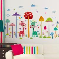 Wall Stickers Mushroom Forest Fawn Children'S Room ...