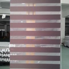 Window Blinds For Living Room Reclaimed Wood Beams In 2018 Translucent 100% Polyester Zebra Dark ...