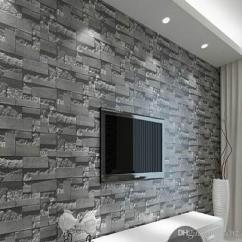 Best Wallpaper For Small Living Room The With Sky Bar Modern 3d Three Dimensional Design Roll Stone Brick Cheap Wall Mural Beach Doors
